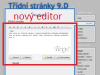 Nový editor textu